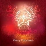 Diseño de la postal de la Navidad del vector Imagenes de archivo