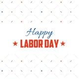 Diseño de la postal del Día del Trabajo Ejemplo del día de fiesta con las estrellas, los engranajes y las llaves de llaves ingles ilustración del vector