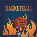 Diseño de la postal del deporte del baloncesto, gráfico del ejemplo eps10 Fotos de archivo libres de regalías