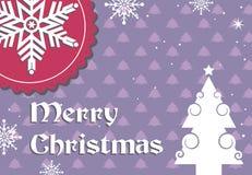 Diseño de la postal de la Navidad con el copo de nieve imagenes de archivo