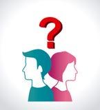 Diseño de la pregunta Fotos de archivo libres de regalías