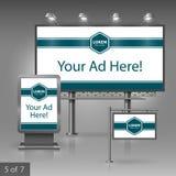 Diseño de la publicidad al aire libre Foto de archivo
