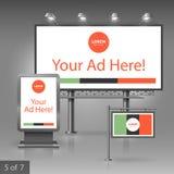 Diseño de la publicidad al aire libre Imagen de archivo libre de regalías