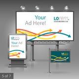 Diseño de la publicidad al aire libre Foto de archivo libre de regalías