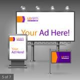 Diseño de la publicidad al aire libre Imagen de archivo