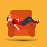 Diseño de la reclinación y del sueño ilustración del vector