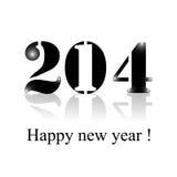 Diseño 2014 de la reflexión de la Feliz Año Nuevo del día de fiesta Fotos de archivo libres de regalías