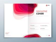 Diseño de la revista El papel talla la cubierta abstracta para el diseño de la revista o del catálogo del aviador del folleto Con ilustración del vector