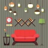 Diseño de la sala de estar Imagen de archivo