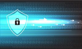 Diseño de la seguridad del vector en fondo azul Fotografía de archivo libre de regalías