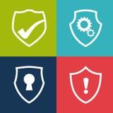 Diseño de la seguridad, ejemplo del vector, ilustración del vector