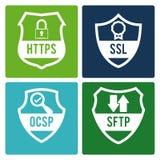 Diseño de la seguridad, ejemplo del vector, Imagen de archivo libre de regalías