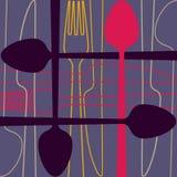 Diseño de la servilleta Imagenes de archivo