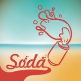 Diseño de la soda Fotos de archivo