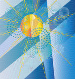 Diseño de la sol Imágenes de archivo libres de regalías