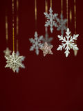 Diseño de la tarjeta de felicitación de los copos de nieve Fotos de archivo libres de regalías