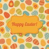 Diseño de la tarjeta de felicitación de Pascua Imagen de archivo