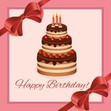 Diseño de la tarjeta de felicitación del cumpleaños Foto de archivo libre de regalías