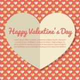 Diseño de la tarjeta de felicitación del día de tarjetas del día de San Valentín de la plantilla Imagen de archivo