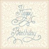 Diseño de la tarjeta de felicitación del feliz cumpleaños. Fotos de archivo libres de regalías