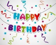 Diseño de la tarjeta de felicitación del feliz cumpleaños Imagenes de archivo