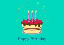 Diseño de la tarjeta de felicitación del feliz cumpleaños Foto de archivo libre de regalías