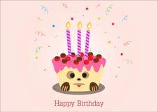 Diseño de la tarjeta de felicitación del feliz cumpleaños Fotos de archivo libres de regalías