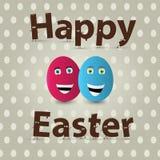 Diseño de la tarjeta de felicitación del huevo de Pascua Vector Fotografía de archivo