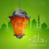 Diseño de la tarjeta de felicitación del Ramadán libre illustration