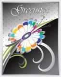 Diseño de la tarjeta de felicitación del vector Fotografía de archivo