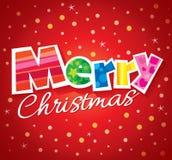 Diseño de la tarjeta de felicitación del vector de la Navidad Imagen de archivo libre de regalías