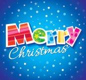 Diseño de la tarjeta de felicitación del vector de la Navidad Imagenes de archivo