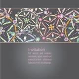 Diseño de la tarjeta de felicitación del vector Invitación ornamental Fotos de archivo