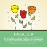 Diseño de la tarjeta de felicitación nuevo y lindo Foto de archivo