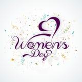 Diseño de la tarjeta de felicitación para el día de las mujeres internacionales Fotos de archivo libres de regalías