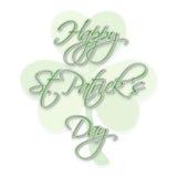Diseño de la tarjeta de felicitación para la celebración del día de St Patrick Fotografía de archivo