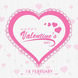 Diseño de la tarjeta de felicitación para la celebración del día de tarjeta del día de San Valentín Imagen de archivo