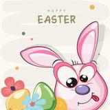 Diseño de la tarjeta de felicitación para la celebración feliz de Pascua
