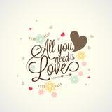 Diseño de la tarjeta de felicitación para la celebración feliz del día de tarjetas del día de San Valentín Imagen de archivo libre de regalías