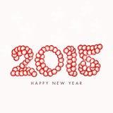 Diseño de la tarjeta de felicitación para las celebraciones de la Feliz Año Nuevo 2015 Foto de archivo