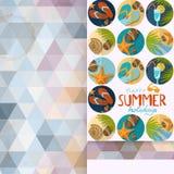 Diseño de la tarjeta de felicitación, plantilla libre illustration