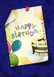 Diseño de la tarjeta de felicitación, plantilla stock de ilustración