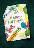 Diseño de la tarjeta de felicitación, plantilla Imagen de archivo