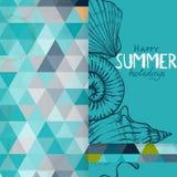 Diseño de la tarjeta de felicitación, plantilla ilustración del vector