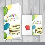 Diseño de la tarjeta de felicitación, plantilla Imágenes de archivo libres de regalías