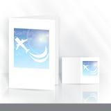 Diseño de la tarjeta de felicitación, plantilla Imagenes de archivo