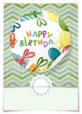 Diseño de la tarjeta de felicitación, plantilla Imagen de archivo libre de regalías