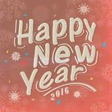 Diseño de la tarjeta de felicitación por Feliz Año Nuevo Imágenes de archivo libres de regalías