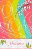 Diseño de la tarjeta de felicitaciones del vector Foto de archivo libre de regalías