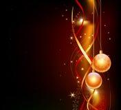Diseño de la tarjeta de Navidad Fotografía de archivo libre de regalías